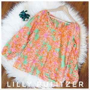 LILLY PULITZER floral blouse tunic